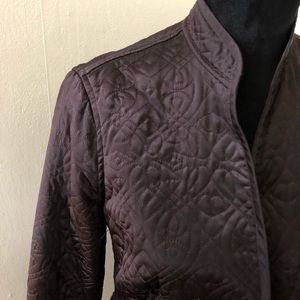 Banana Republic black quilted jacket M
